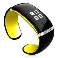 OLED braccialetto Bluetooth orologio Da Polso intelligente L12S pelliccia telefoni Android Giallo e nero
