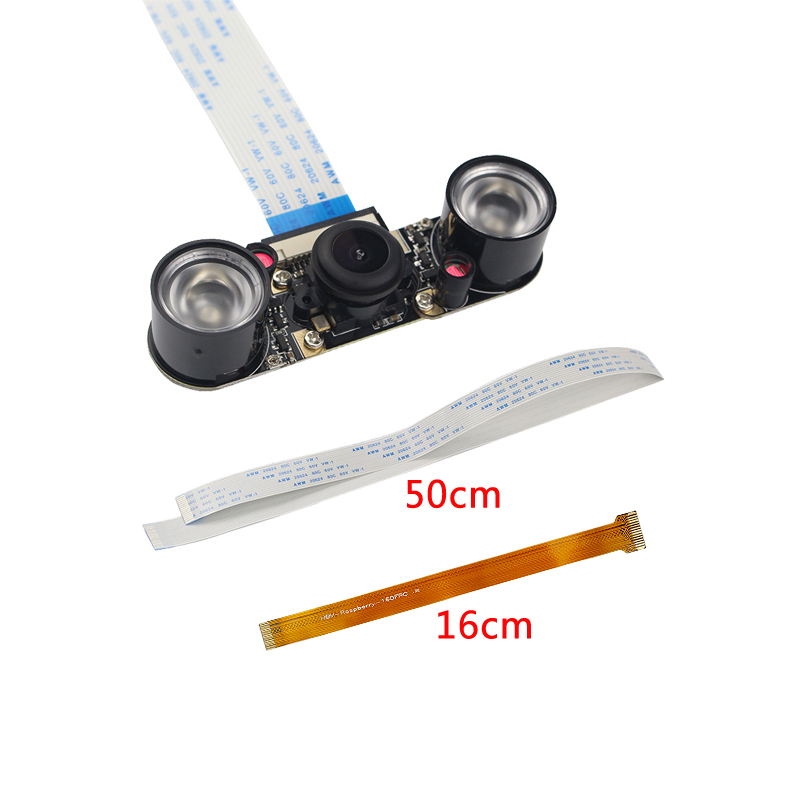Raspberry Pi 5MP Megapixel Night Vision Camera OV5647 Sensor Fisheye Wide-angle Camera Module suitable for Raspberry Pi Zero