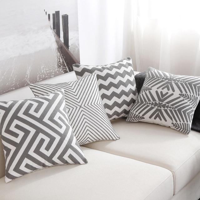 Striped sofa throw