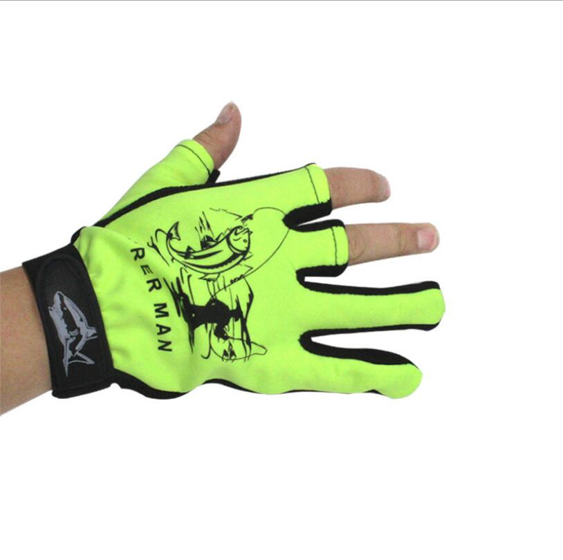 Fishing Gloves Outdoor Sport Hiking Non-slip Protective Three Fingers Cut Sports Half Finger