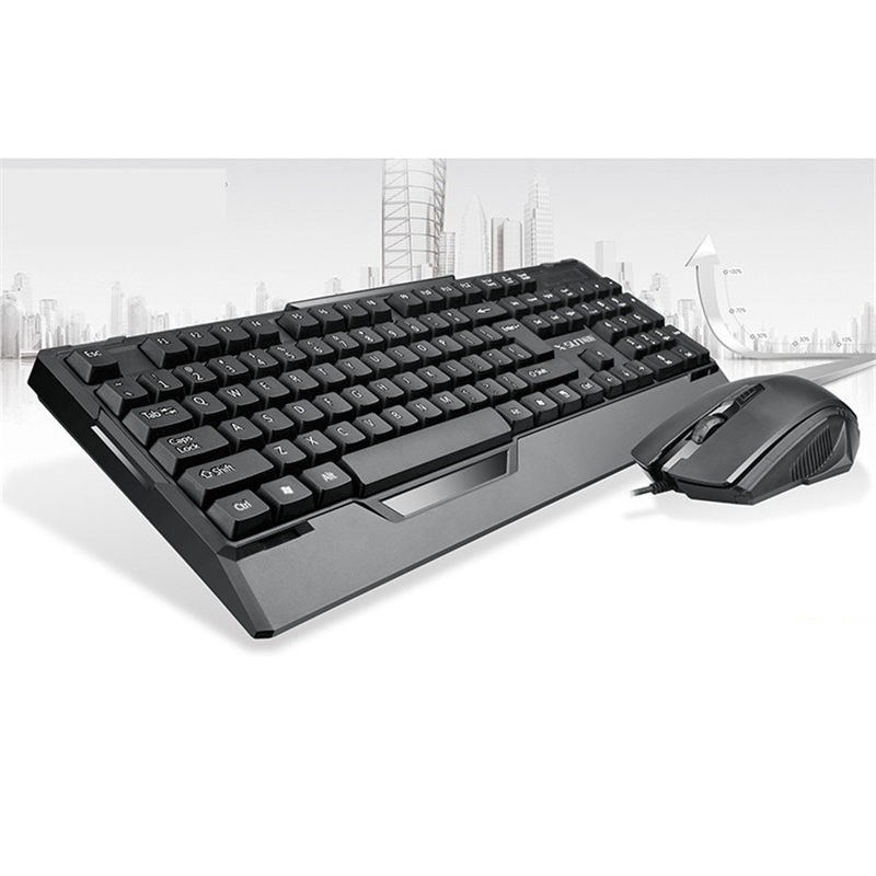 black usb wired gaming keyboard and mouse combo waterproof teclado 1200 dpi mause for home. Black Bedroom Furniture Sets. Home Design Ideas