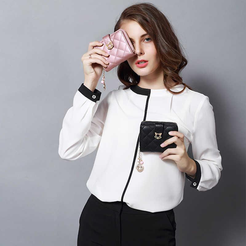FOXER 브랜드 여성 정품 가죽 짧은 지갑 고품질 다기능 카드 홀더 여자의 지갑 패션 여성 지갑