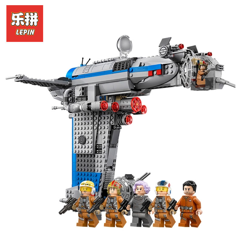Lepin 05129 The Resistance Bomber 873Pcs Star wars Plan Series Model Building kits Blocks Bricks Assemblage Toys LegoINGly 75188 конструктор lepin star plan бомбардировщик сопротивления 873 дет 05129