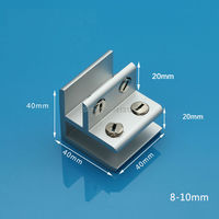 Free Shipping 10MM Aluminum Glass Clamp F Window Clamp Folder Shelf Connector Furniture Hardware Fitting Diy