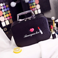 Women Professional Waterproof Toolbox Lovely Cosmetic Bag Large Capacity Makeup Storage Case Girl Portable Folding Cosmetic Box