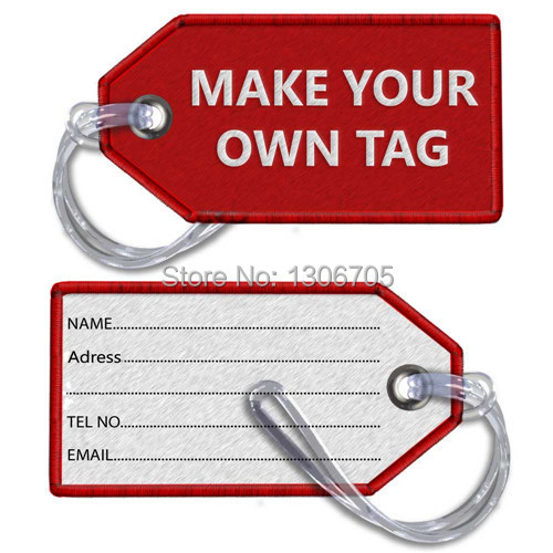 diy make your own tag embroidered luggage tag in key rings from