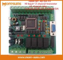 Rápido Envío Gratis bordo placa de control industrial PLC MCU tablero de control de relé transistor 16MR MT AD DA FX