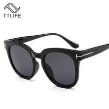 TTLIFE T-Shaped Sunglasses Men And Women Fashion Green Eyeglasses 2019 Black Vintage Sun Glasses Blue Shades YJHH0108