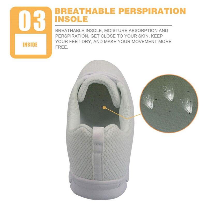 Femmes De Zapatos hk051baq Respirant Chaussures Animé Automne Infirmière hk050baq Mignon À Lacets Maille D'impression Plates Baskets hk051aq Battement Coeur Dessin Instantarts Customaq hk050aq TOqzcgq