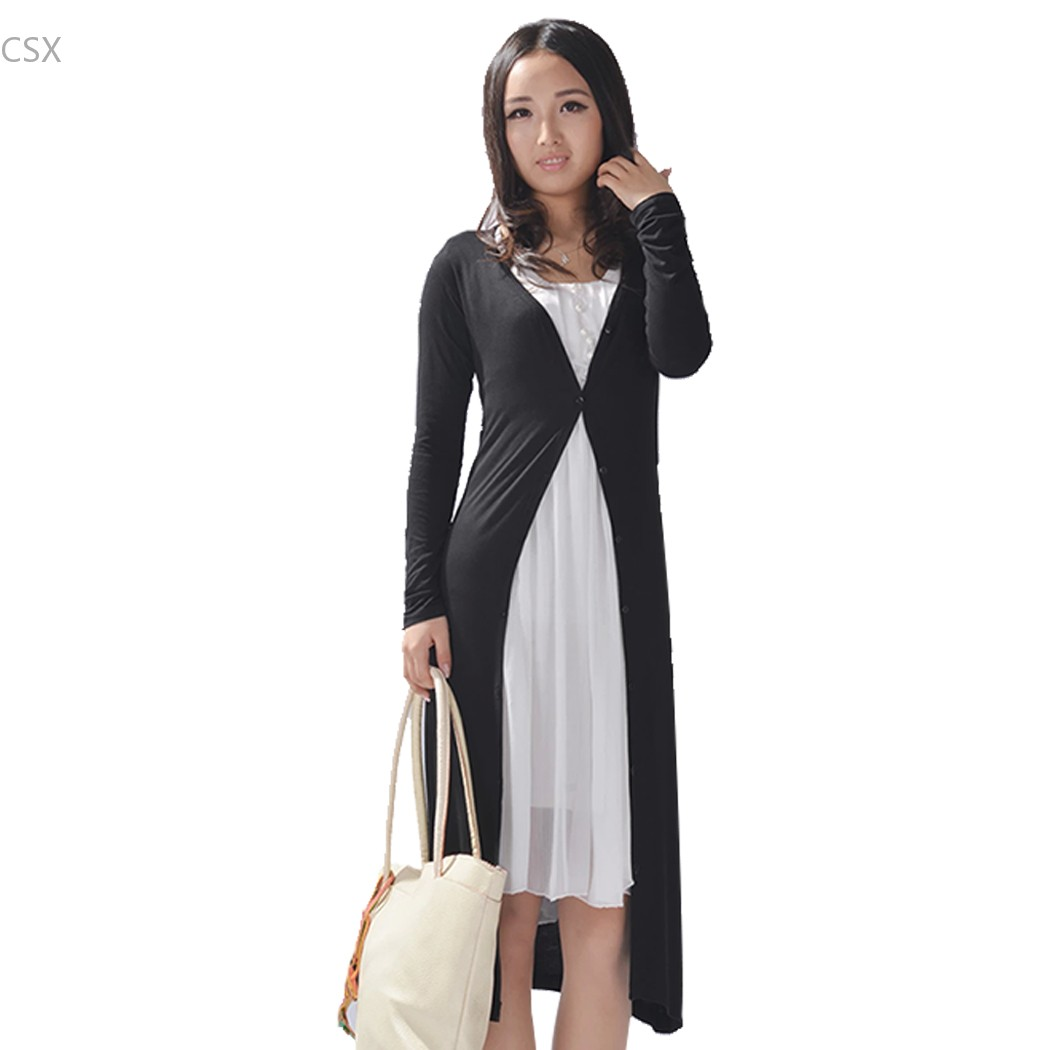 Alishebuy Autumn winter Ladies Women Long Sleeve sweater Long Maxi ...
