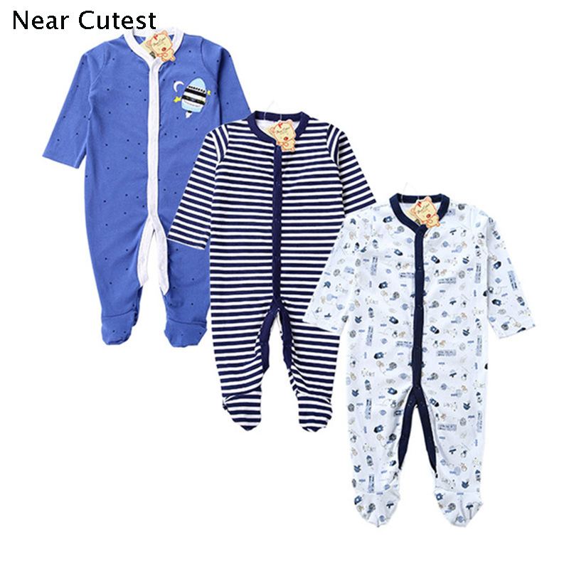 Near Cutest 3pcs/lot 2017 Baby Rompers Cotton Long Sleeve Newborn Babies Infantial Baby Girls Boy Clothes Jumpsuit Baby Clothing cotton baby rompers set newborn clothes baby clothing boys girls cartoon jumpsuits long sleeve overalls coveralls autumn winter