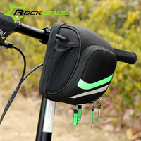 ROCKBROS Bicycle Front Tube Bag MTB Folding Bike Frame Handlebar Bag Free Size Fabric Outdoor Sports