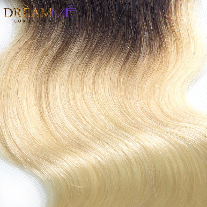 Dreamme Hair 1B / 613 Body Wave 4x4 Fermeture À Lacets Ombre - Cheveux humains (noir) - Photo 6
