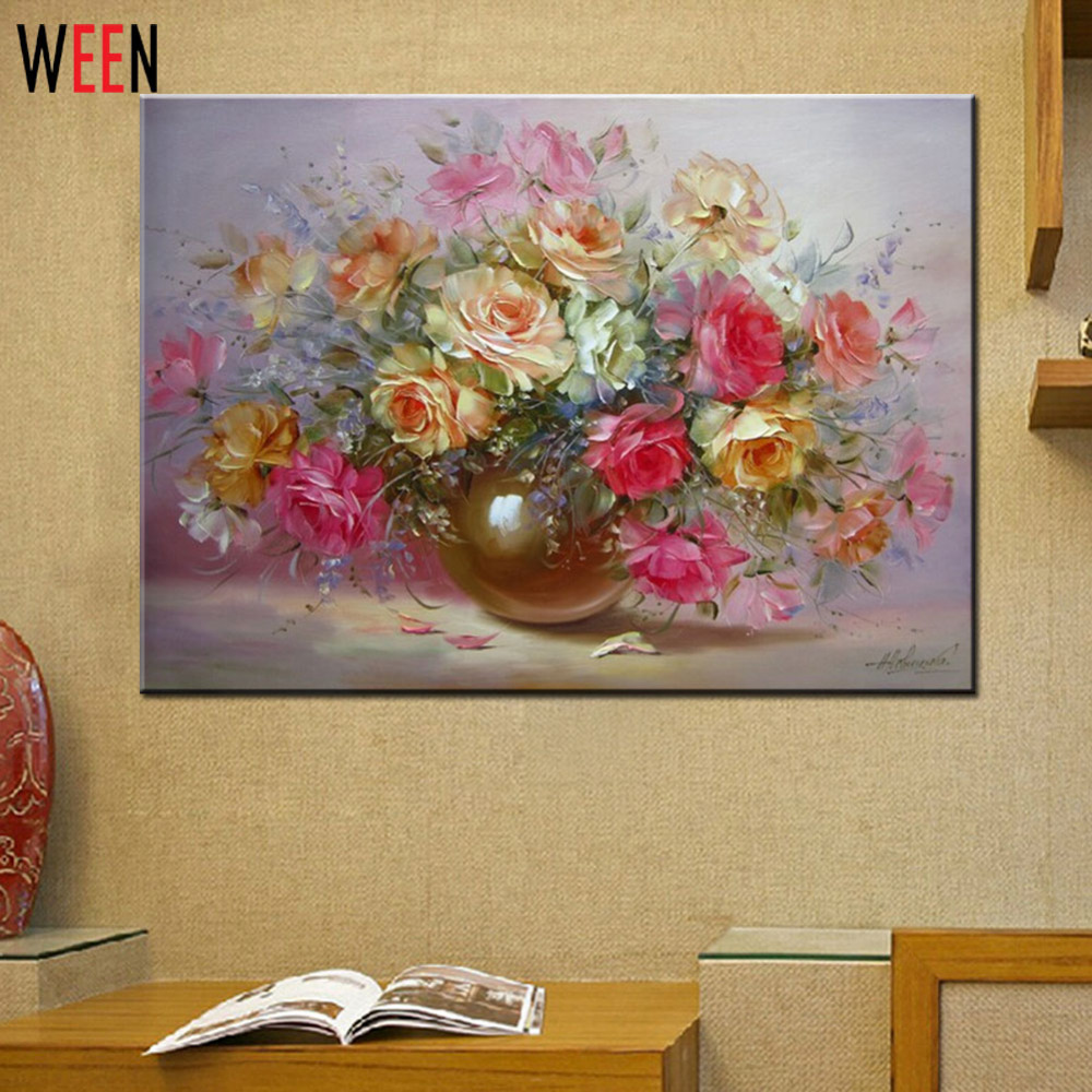 Cheap Modern Paintings Home Decoration 40x50cm Wall Oil Painting Paint By Numbers Decoracion Hogar Frameless