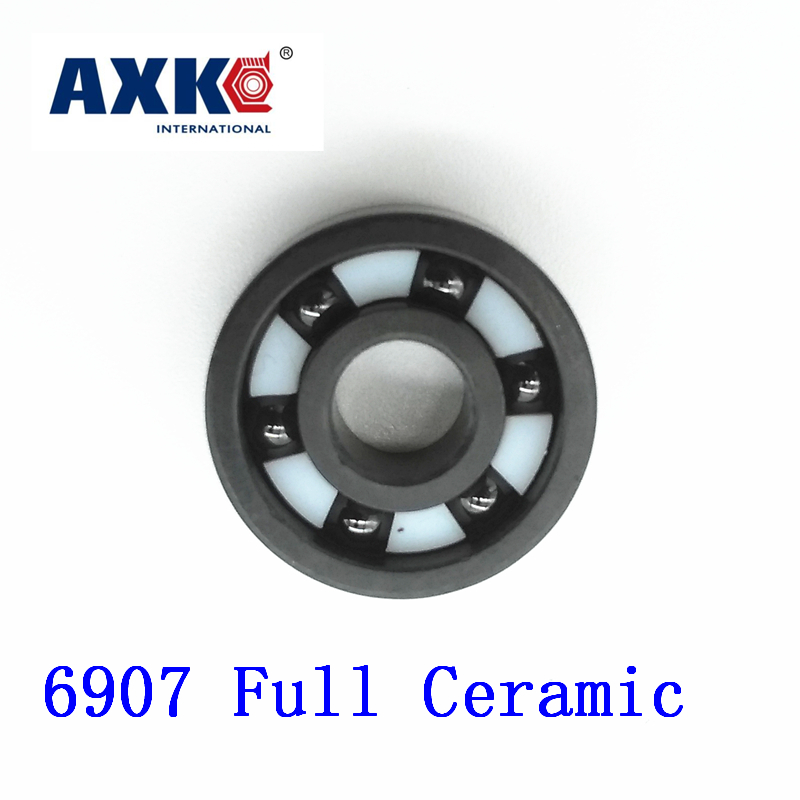 Axk 6907 Full Ceramic Bearing ( 1 Pc ) 35*55*10 Mm Si3n4 Material 6907ce All Silicon Nitride Ceramic 6907 Ball BearingsAxk 6907 Full Ceramic Bearing ( 1 Pc ) 35*55*10 Mm Si3n4 Material 6907ce All Silicon Nitride Ceramic 6907 Ball Bearings