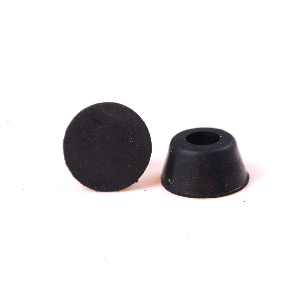 สีดำ 10 Pcs พลาสติกหลายประเภทขนาด Conical โคมไฟยางกันชนครอบคลุม