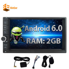 EinCar Android 6.0 Car PC Stereo 2Din 7'' Touch Screen Autoradio Audio GPS Navigation Bluetooth Headunit Support WiFi NON DVD