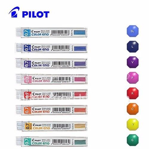 8 x Pilot Color Eno Mekanisk blyertspenna påfyllning, PLCR-7 8 färger