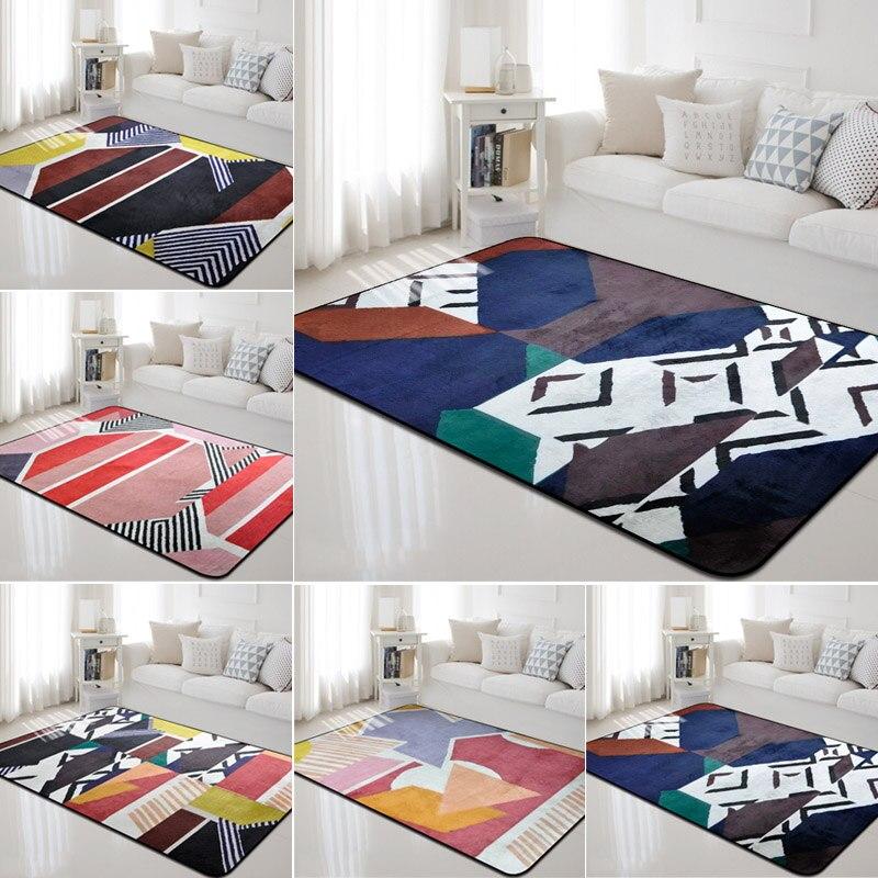 Tapis géométriques pour salon anti-dérapant nordique maison chambre canapé tapis enfants chambre Table basse Yoga tapis décoratif tapis