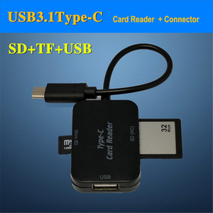Image 2 - Baolyda Type C & micro USB & USB 3 In 1 OTG Card Reader High speed USB2.0 Universal OTG TF/SD for  Android Computer