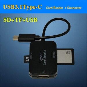 Image 2 - Baolyda typ C i micro USB i USB 3 w 1 czytnik kart OTG szybki USB2.0 uniwersalny OTG TF/SD na komputer z systemem android