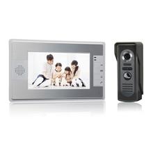 (1 Unidades) HD 700TV Line One to One Color de Video Teléfono de La Puerta Sistema de Intercomunicación Del Timbre del IR Cámara del monitor Manos Libres de intercomunicación