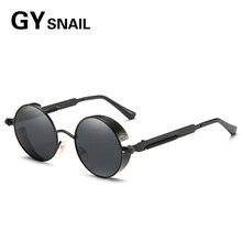 GY SNAIL Polarized Steampunk Sunglasses Men Women Round Gothic Steam Punk Goggles Metal Vintage Glasses sun Eyewears Travel