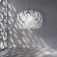 게시물 현대 LED 샹들리에 거실 중단 된 램프 홈 데코 조명기구 침실 매달려 조명 북유럽 luminaires