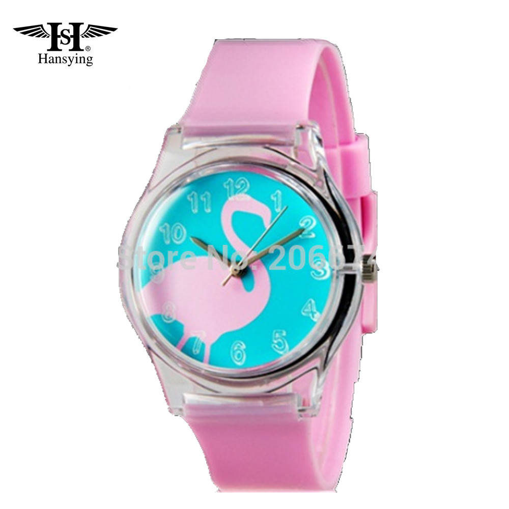 Hansying Now Swan Pattern Design Mode kvinnor klär Vattentålig Analog Wrist Quartz Watch Ladies Watch gratis frakt