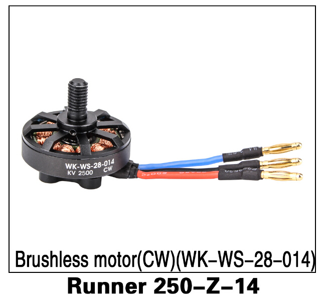 Original Walkera Runner 250 Spare Parts 2500 KV CW Brushless Motor (WK-WS-28-014) Runner 250-Z-14