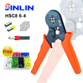 Free give away of terminal-set HSC8 6-4 0.25-6mm 23-10AWG adjustable crimper Plier tube terminals crimp tools crimping tool