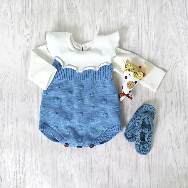 d31bb411684f 0-24M Infant romper Newborn Baby Knitting Clothes Baby Jumper Girl Boys  Cotton Knit Rompers