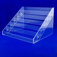 6 Tier Clear Acrylic Display Stand Organizer Nail Cosmetic case Storage Box