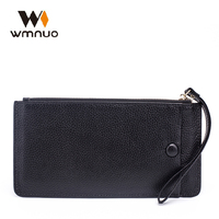 Wmnuo Women Wallet 2018 New Genuine Leather High Quality Long Design Phone Bags Cowhide Women Handbags Fashion Female Purse