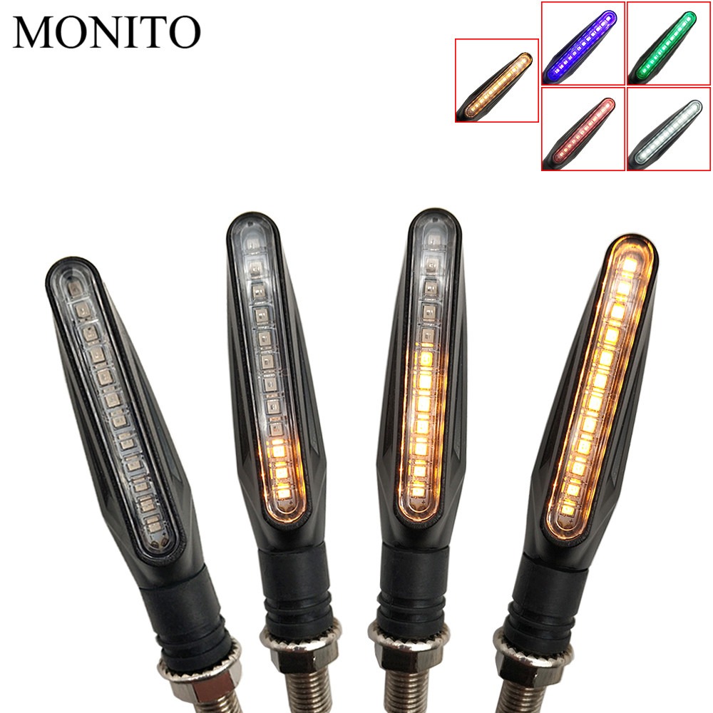 motorcycle flowing water flicker <font><b>led</b></font> moto turn signal light lamp For <font><b>Suzuki</b></font> <font><b>GSXR</b></font> GSX-R 600 <font><b>750</b></font> 1000 K1 K2 K3 K4 K5 K6 K7 K8 K9 image