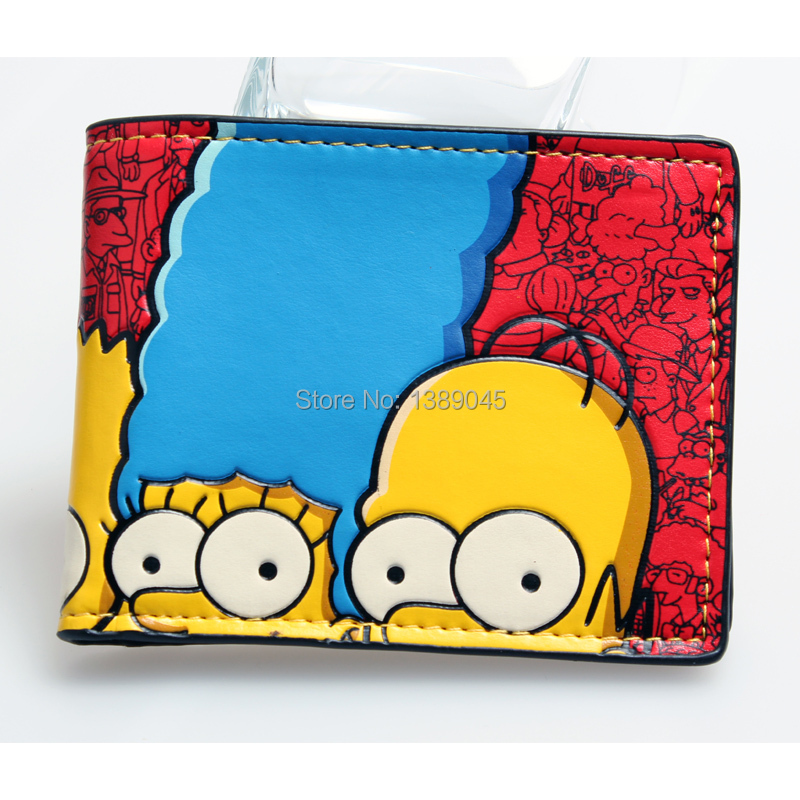 THE SIMESONS young boys and girls students personality fashion paragraphs short transverse animated cartoon wallet DFT1133 point systems migration policy and international students flow