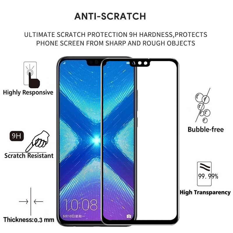 Protective Glass For Honor 8c Screen Protector For Huawei Honor 8x Play 8a 8 Lite A C X Honer A8 X8 C8 Cover Tempered Glas Film