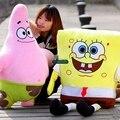 Dorimytrader Hot Cartoon SpongeBob Plush Toy Soft Stuffed Big Anime Patrick Star Sponge bob Doll Baby Gift Free Shipping DY61281