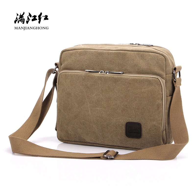 New Vintage Canvas Men Messenger Bag Women High Quality Man Casual Shoulder Crossbody Bags Large Capacity Women Satchel Bag 1092