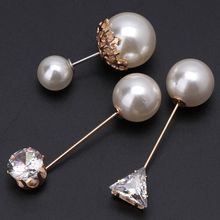 3Pcs Assorted Imitation Pearl Crystal Brooches Safety Pins Set For Women Jewelry