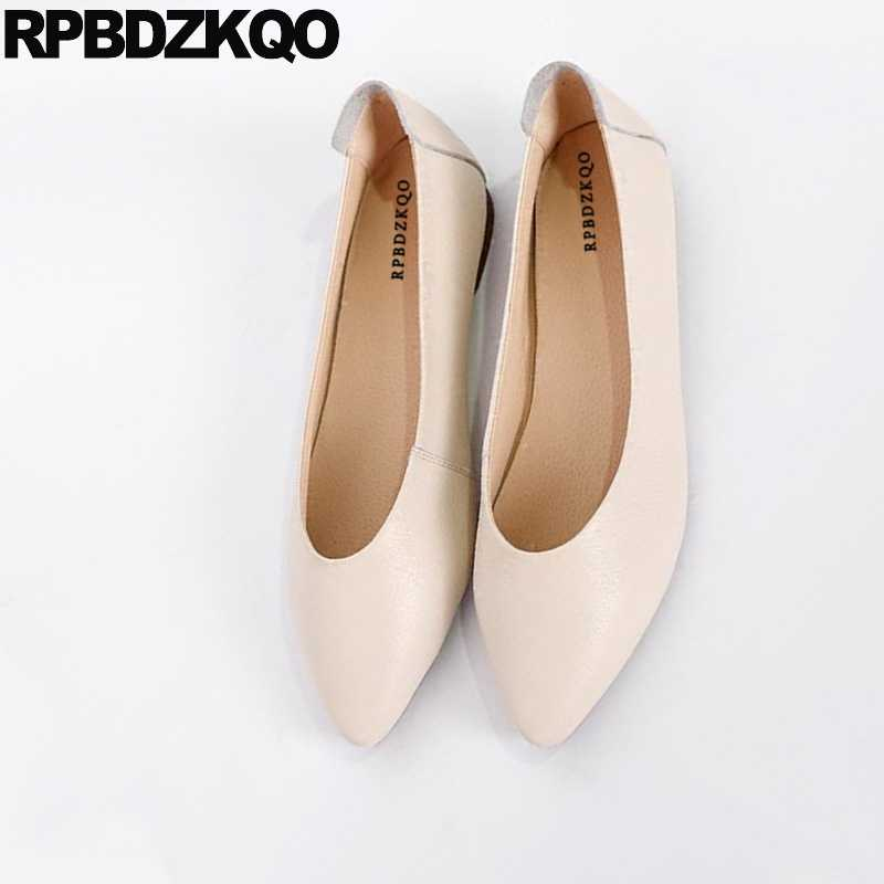 380abd04d71d8 ... 2018 Ballerina Shoes China Work Maternity Nude Slip On Soft Ballet  Flats Women Designer Ladies Pointed ...