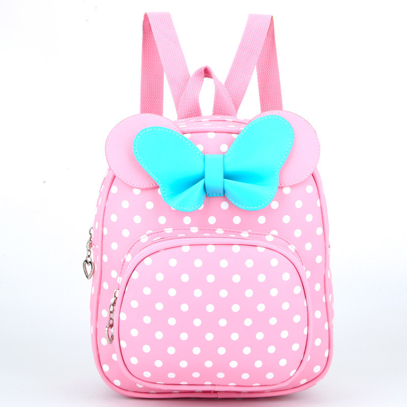 Children Bags for girls Kindergarten Children School Bags Cartoon bow tie Baby Girl School Backpack Cute Children Backpack nohoo waterproof cute cats animals baby backpack kids toddler school bags for girls children school bags kids kindergarten bag