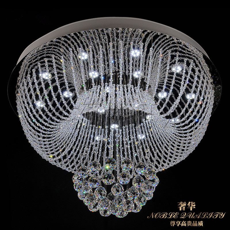 85-265 - v led crystal LAMP  round the sitting room is contemporary and contracted meals chandeliers manufacturers wholesale 1 pc contemporary and contracted sitting room led copper dome light in the kitchen