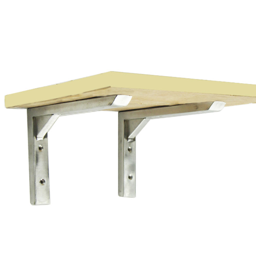 Wall folding table mechanism - Free Shipping 2pcs Lot 35x21 5mm Stainless Steel L Shaped Table Folding Wall Shelf
