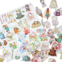 40pcs/pack Summer Concerto Series Six Selections Cute Cartoon Stationery Sticky Notes For Gifts