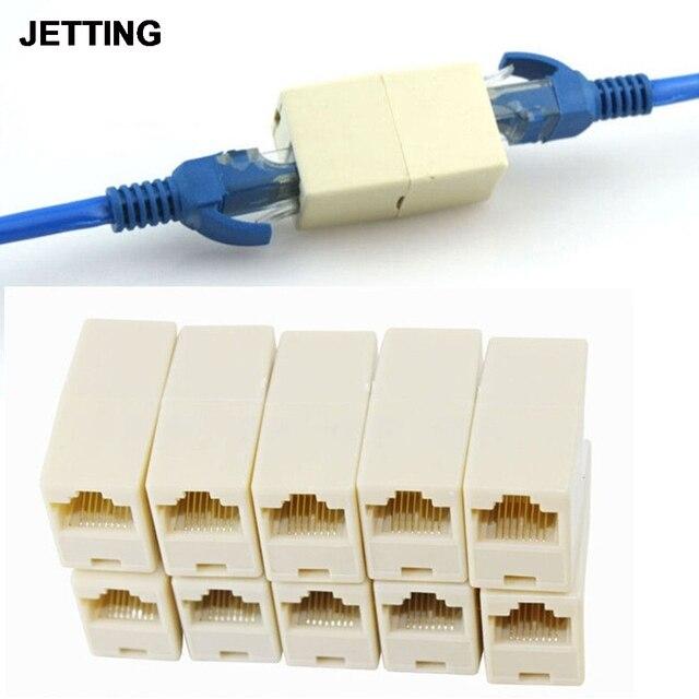 Imc 5/10/20ピース1 to2 lanイーサネットネットワークケーブルダブルポート雌プラグ電話rj45スプリッタプラグアダプタコネクタ