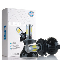 New H7 LED Car Auto Headlight 80W 8000LM 4 COB For Automotive Headlight Fog Lamp H1