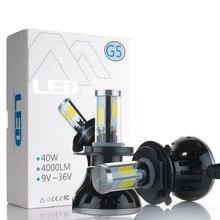 H7 LED Car auto Headlight 80W 8000LM 4 COB for Automotive Headlight Fog lamp H1 H3 H11 9005 9006 5202 bulb with Fan Play & Plug