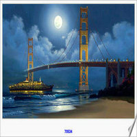 5D Embroidery Diamond Painting The Magnificent Bridge Building Cross Stitch Rhinestone Decoration For Living Room