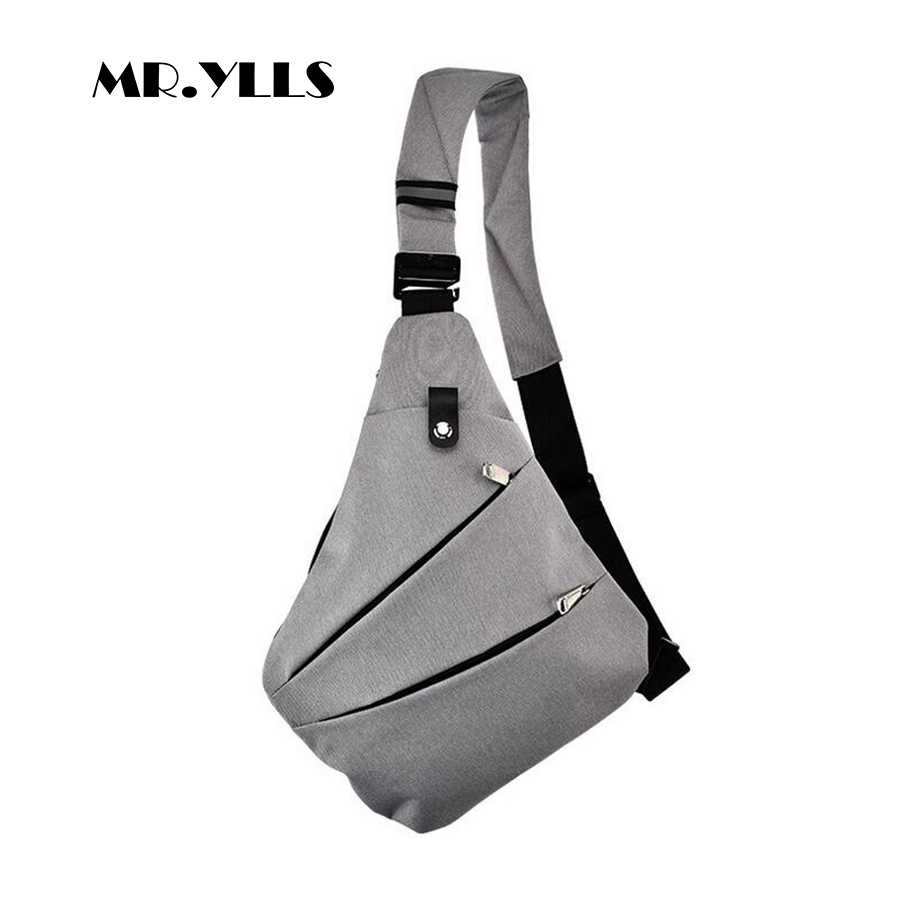 MR.YLLS Waterproof Shoulder Bags Men Business Style Chest Bag Male Nylon Messenger Bags Man Fashion Crossbody Bag Men Bolsa 2019